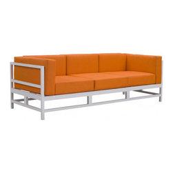 Zuo Swordfish Outdoor Sofa, Orange - Zuo Swordfish Outdoor Sofa