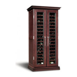 Cavavin Majestika 203 Bottle Tall Wood Model (Double Depth) Wine Fridge - wine rack, wine ...