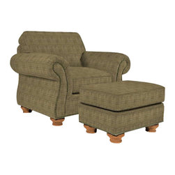 Broyhill - Broyhill Laramie Olive Chair with Attic Heirlooms Wood Stain - Broyhill - Club Chairs - 50810Q1 - About This Product: