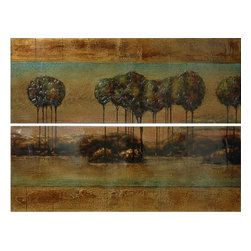 Crestview Collection - Crestview Collection Landscape High Gloss Stretched Canvas Wall Art X-1301POTVC - Crestview Collection Landscape High Gloss Stretched Canvas Wall Art X-1301POTVC