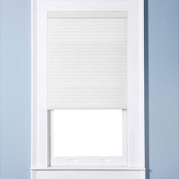 Arlo Blinds - Honeycomb Cell Light-filtering Pure White  Cellular Shades - Cordless honeycomb cellular shades help keep homes cool in the summer and warm in the winter. These white shades filter light to provide privacy while allowing natural sunlight into your home and they are made of easy-to-clean polyester.