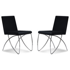 Contemporary Dining Chairs Scarlet Black Dining room Chair Set