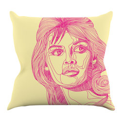 """Kess InHouse - Roberlan """"Bardot"""" Throw Pillow (16"""" x 16"""") - Rest among the art you love. Transform your hang out room into a hip gallery, that's also comfortable. With this pillow you can create an environment that reflects your unique style. It's amazing what a throw pillow can do to complete a room. (Kess InHouse is not responsible for pillow fighting that may occur as the result of creative stimulation)."""