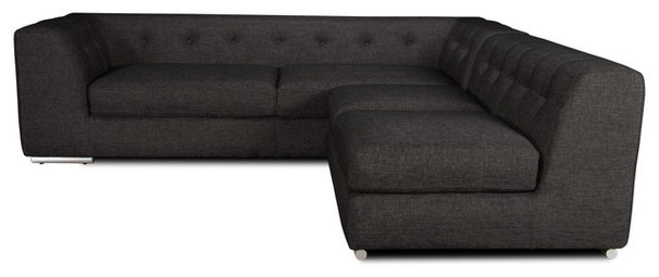 Modern Sectional Sofas Yorkville Sectional Couch Dark Grey