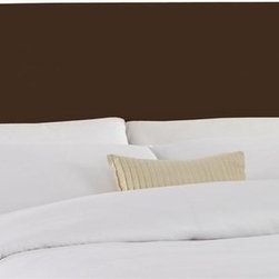 Skyline Furniture - Chocolate Twill Slipcover Headboard w Foam Pa - Choose Size: KingAdjustable legs. Plush foam padding. Attaches to standard bed frames. Made from 100% cotton. Made in the USA. Minimal assembly required. Twin: 41 in. L x 4 in. W x 51 in. H (24 lbs.). Full: 56 in. L x 4 in. W x 51 in. H (31 lbs.). Queen: 62 in. L x 4 in. W x 51 in. H (33 lbs.). King: 78 in. L x 4 in. W x 51 in. H (45 lbs.). California king: 74 in. L x 4 in. W x 51 in. H (40 lbs.)Twill slipcover headboard