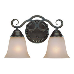 Jeremiah by Craftmade - Gatewick - Double Bath Light in Century Bronze with Pain -