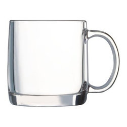 Hot Tea Mug, Set of 2 - You'll know when your tea is that perfect shade of seeped with this set of clear mugs. They're made to handle heat without shattering — and speaking of handles, this one will keep your hands cool no matter the temperature of the beverage.