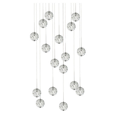 Bubble Ball 17 Light Suspension by Edge Lighting - Bubble Ball Suspension from Edge Lighting offers gorgeous general light distribution and looks great in a wide variety of interiors. Multiple sizes, colors, and cord lengths are available.