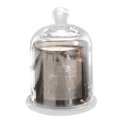 Apothecary Guild Candle Jar with Glass Dome - Peppered Smoke - Evoke a vintage appeal that is both timeless and elegant with the Apothecary Guild Candle Jar with Glass Dome in Peppered Smoke, a rich holiday fragrance that is reminiscent of fireplaces burning in the cold of winter. It rests in a stunning silver vessel topped with a gorgeous glass dome. Ideal for a thoughtful gift or to beautifully scent the room for your holiday soirees, this elegant candle is both functional and a piece of lovely decor that is sure to enchant.