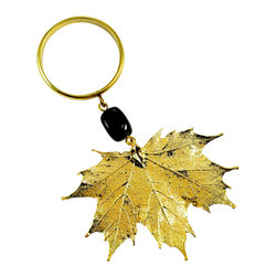 Sugar Maple Wine Charm in 24-karat Gold - Here's a sweet charm perfect for brightening up your wine bottles, your napkins — or your favorite Canuck. It features a real, sugar maple leaf, coated in your choice of iridescent or 24 karat gold finishes. It also makes a great gift, eh?