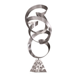 Zuo Modern Contemporary, Inc. - Guyjax Sculpture - A seamless metal ribbon forms the Guyjax Sculpture. Twisting upward from a triangulated base, it's a freeflowing yet contained piece. Gorgeous in any room.