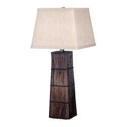 Kenroy - Kenroy 20977DRT Wakefield Table Lamp - Bring a natural flair to your room, with the woven shapes and textures of the Naturewalk Collection.  Made by interweaving natural materials over a wire frame, each lamp uses its particular characteristics to create a distinctive tone, shape, and pattern.