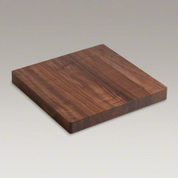 KOHLER - KOHLER Hardwood cutting board for Stages(TM) kitchen sinks - Complement the sleek style of your Stages kitchen sink with a custom cutting board, designed to perfectly fit above the basin. Shaped from American walnut hardwood, this cutting board provides a durable work surface that is beautiful, portable, and easy to clean.