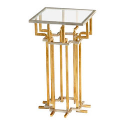 Contemporary Gold Leaf Slater Side Table - *Slater Side Table