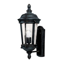 Maxim Lighting - Maxim Dover Cast 1-Light Outdoor Wall Lantern Bronze - 3020CDBZ - Dover Cast is a traditional, Mediterranean style collection from Maxim Lighting Interior in Bronze finish with Seedy glass.