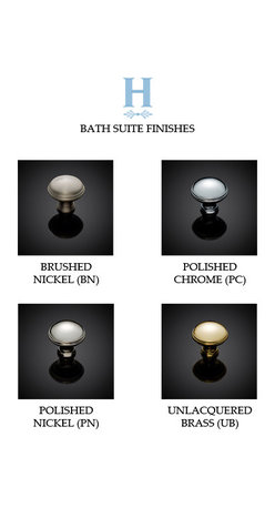 BATH SUITE 4008 STANDARD FINISHES -