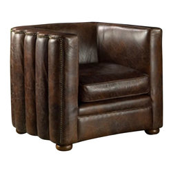 BoBo's Intriguing Objects - Antwerp Club Chair - Do something decidedly deco. The sleek lines and subtle studding surely charm the eye, while sitting in the chair feels like you're ensconcing yourself in the luxury of a bygone era.