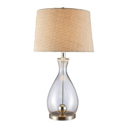 Dimond Lighting - D1975-LED Longport Table Lamp, Chrome, Clear Glass - Transitional Table Lamp in Chrome with Clear Glass glass from the Longport Collection by Dimond Lighting.