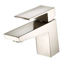 """Danze - Danze Mid-Town Single Handle Lavatory Faucet - Brushed Nickel - Features 3 7/8"""" high spout, 5"""" spout length Laminar flow Ceramic disc valve provides a tight seal for drip free performance and ensures durability over time Metal touch down drain assembly included for easy installation Single hole mount with optional deck plate View Spec Sheet"""