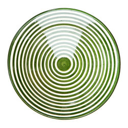"10"" Safi Ceramic Plate, Lime - Handmade in Safi, Morocco. No two designs are ever the same because the artisans don't work with templates, each piece is completely unique."