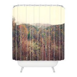 DENY Designs - Catherine McDonald Autumn In Appalachia Shower Curtain - Who says bathrooms can't be fun? To get the most bang for your buck, start with an artistic, inventive shower curtain. We've got endless options that will really make your bathroom pop. Heck, your guests may start spending a little extra time in there because of it!