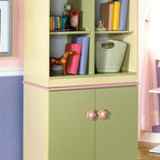 Signature Design by Ashley - 2 Pc Storage Set - Set includes Bin Storage and Door Storage. Color/Finish: Pastel. Soft pastel multi-colored green, lavender, pink, and yellow finish. Exaggerated traditional silhouette style for a fun look. Pink and yellow flower motif handles. Side roller glides for smooth operating drawers. Bin Storage: 29 in. W x 18 in. D x 28 in. H. Door Storage: 29 in. W x 18 in. D x 28 in. H