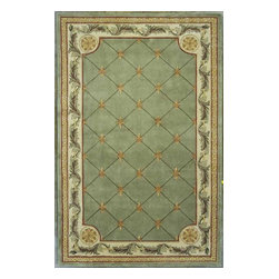 """Kas - European Jewel Hallway Runner 2'6""""x10' Runner Sage Area Rug - The Jewel area rug Collection offers an affordable assortment of European stylings. Jewel features a blend of natural Taupe color. Hand Tufted of 100% Wool the Jewel Collection is an intriguing compliment to any decor."""