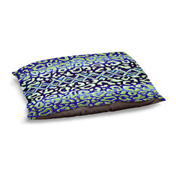 DiaNoche Designs - Dog Pet Bed Fleece - Leopard Trail Blue - The comfort of your pet is of the utmost importance. But shouldn't their furniture match yours? DiaNoche Designs gives your pet some clout with our stable of international artists designs on their new bed.