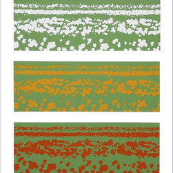 Tulip Fields Artwork - A striking floral popart work of three tulip fields in three bright colourful shades. A superb focal point with a real wow factor for your art collection.