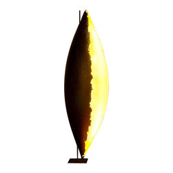 """Catellani & Smith - Catellani & Smith PK LED Terra Gigante floor lamp - The PK LED Terra Gigante floor lamp has been designed by Enzo Catellani and made by Catellani and Smith in Italy. This fixture is one of the most beautiful floor lamps to come from Catellani and Smith. Comosed of a nickel-plated metal base, steel structure, and nickel plated copper stick.  The shade is made of fiberglass and is lined with your choice of gold leaf, silver lear or painted white.  This floor lamp is also dimmable.  Product Details: The PK LED Terra Gigante floor lamp has been designed by Enzo Catellani and made by Catellani and Smith in Italy. This fixture is one of the most beautiful floor lamps to come from Catellani and Smith. Composed of a nickel-plated metal base, steel structure, and nickel plated copper stick.  The shade is made of fiberglass and is lined with your choice of gold leaf, silver lear or painted white.  This floor lamp is also dimmable. Details:                                     Manufacturer:                                      Catellani and Smith                                                     Designer:                                     Enzo Catellani                                                     Made in:                                     Italy                                                     Dimensions:                                      Height: 73"""" (185 cm ) X              Width:22"""" (55 cm)             Base: 9 x 9""""(23 x 23 cm)                                                     Light bulb:                                      8 X  1W LED cool white (6500 K) or             8 X  1W LED neutral white (4100 K) or             8 X  1W LED warm white (2800 K)                                                     Material:                                      Nickel, Copper, Fiberglass"""