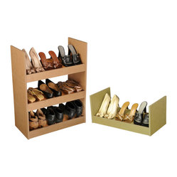 Venture Horizon - Stackable Shoe Racks - Oak - An Inexpensive ...