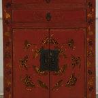 Red Bedside Cabinet - Red Bedside Cabinet