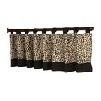 Sweet Jojo Designs - Animal Safari Valance - The Animal Safari Valance by Sweet Jojo Designs is a gorgeous window treatment that will add a designer's touch to any nursery. This valance softens the look of the window and obscures pulled up blinds. It will coordinate nicely with your Sweet Jojo Designs bedding or can be used as an accent with your own room design.