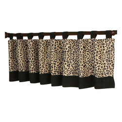 "Sweet Jojo Designs - Animal Safari Valance - The Animal Safari Valance by Sweet Jojo Designs is a gorgeous window treatment that will add a designer's touch to any nursery. This valance softens the look of the window and obscures pulled up blinds. It will coordinate nicely with your Sweet Jojo Designs bedding or can be used as an accent with your own room design.The valance dimensions are 84"" x 15""."