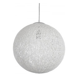 Modway Imports - Modway EEI-1232-WHI Spool Chandelier In White - Modway EEI-1232-WHI Spool Chandelier In White