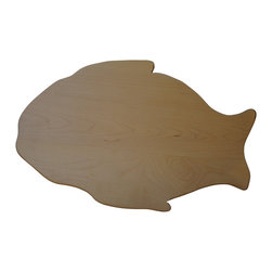 Shark Shade / Martin Carts - Larg Fish Hard Maple Cutting Board - Made with Rock Hard Maple Planks