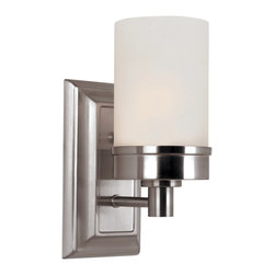Trans Globe Lighting - Trans Globe Lighting 70331 BN Urban Swag Modern / Contemporary Wall Sconce - Industrial architect lighting decor for urban lofts and lifestyles. Edgy lines and crisp frosted glass. Complete indoor collection. UL Listed DAMP.