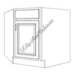 Base Cabinets DCSB36 Diagonal Corner Sink Base Rope Base Cabinets