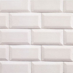 Ceramic Basics - Love this classic subway tile but with a bit more detailing in the beveled edge. Comes in a variety of colors, shapes and sizes, but as-is would work great in a vintage bathroom or kitchen.
