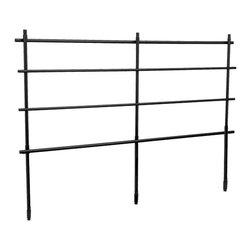 National Public Seating - National Public Seating Back Guard Rails for Transport Riser in Black - Guard rails add a measure of safety to your performance. Add these to your risers when performing away from a wall. Constructed of steel tubing.