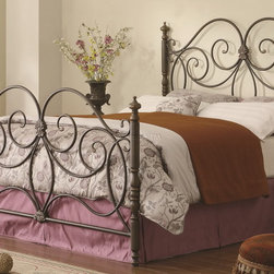 Iron Headboard & Footboard with Scroll Details - Coaster Co. -