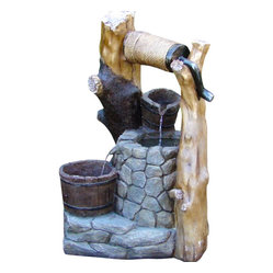 Wishing Well Outdoor Fountain