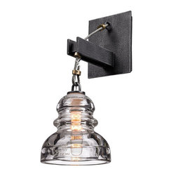 "Steam Plant Sconce - Dimension	 	5.75""W 14""H 8.5""P"