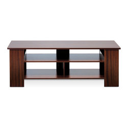 Furinno - Furinno FNAJ-11109 Boyate TV Stand - Furinno Boyate TV Entertainment Stand is (1) Unique Structure: designed with simple yet stylish appearance. We focus on products that fit in your space and fit on your budget. (2) Easy Assembly: with reference to the assembly instruction, this unit can be assembled in as short as 40 minutes. Designed to meet the demand of low cost but durable and efficient furniture. (3) Made from E1 grade engineered particle board with high durability and without harsh chemicals. Thus there is no foul smell. Closer to healthy living and nature. A simple attitude towards lifestyle is reflected directly on the design of Furinno Furniture, creating a trend of simply nature. Products are produced 100-percent in China. Care instructions: wipe clean with clean damp cloth. Avoid using harsh chemicals. Pictures are for illustration purpose. All decor items are not included in this offer.