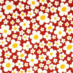 pretty flower fabric with big daisies by Kokka - Daisies Fabric