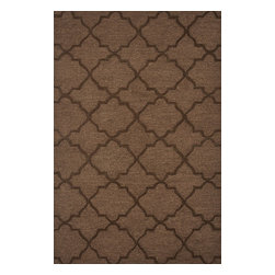 """Loloi Rugs - Loloi Rugs Circa Collection - Brown, 3'-6"""" x 5'-6"""" - The hand-tufted Circa Collection from China breathes new life into out of date interiors with a series of simple, tonal designs. Available in a range of sophisticated neutral hues and bright colors, these 100% polyester rugs from China have just a hint of shimmer for a polished finish that earns notice without overbearing the room."""