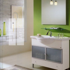 modern bathroom by European Cabinets &amp; Design Studios
