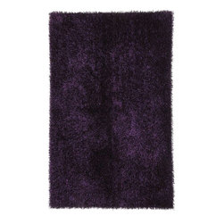 "Jaipur - Shag Solid Pattern Polyester Purple/ Area Rug, 3.6 x 5.6 - Personal expression reaches new heights with Flux, a beautiful range of plush, hand-woven shag rugs of 100% polyester. This ""chameleon"" is ideal for the contemporary design lover who enjoys mixing up his or her personal space often - acting as a rich background to a diverse palette of furnishings and accessories. Highly textured shag construction brings comfort underfoot while a palette of fashion forward solid hues commands attention in any room."