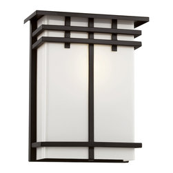 """Trans Globe Lighting - Trans Globe Lighting 40203 BK Cityscape Square 12"""" Patio Light - Whether your garden is downtown or in the desert this porch light makes an attractive accent to walkways, gardens, and decks. Place over doorways for easy key access. Add along walk areas for safety."""