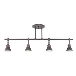 Cambridge - Quoizel Denning 4-light Palladian Bronze Finish Fixed Track Light - Add beauty to any contemporary space with the one of a kind Quoizel 4-light fixed track light in a palladian bronze finish. It features a classic Americana styling that adds a nostalgic flair to your home,and requires four 50-watt medium base bulbs.